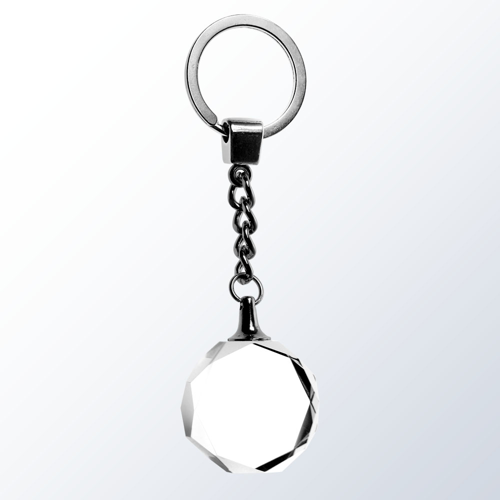 Key Chain, Gem Cut - Optic Crystal