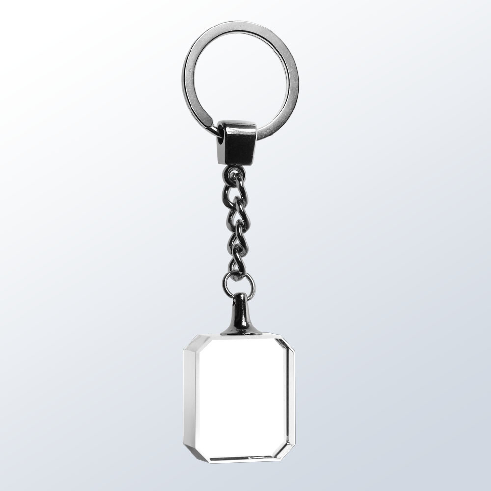 Key Chain, Tile - Optic Crystal