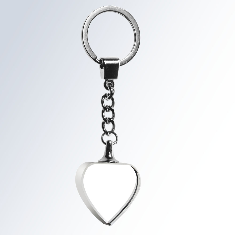 Key Chain Heart - Optic Crystal