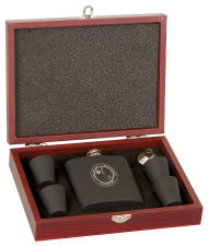 Flask Set, Wood Presentation Box