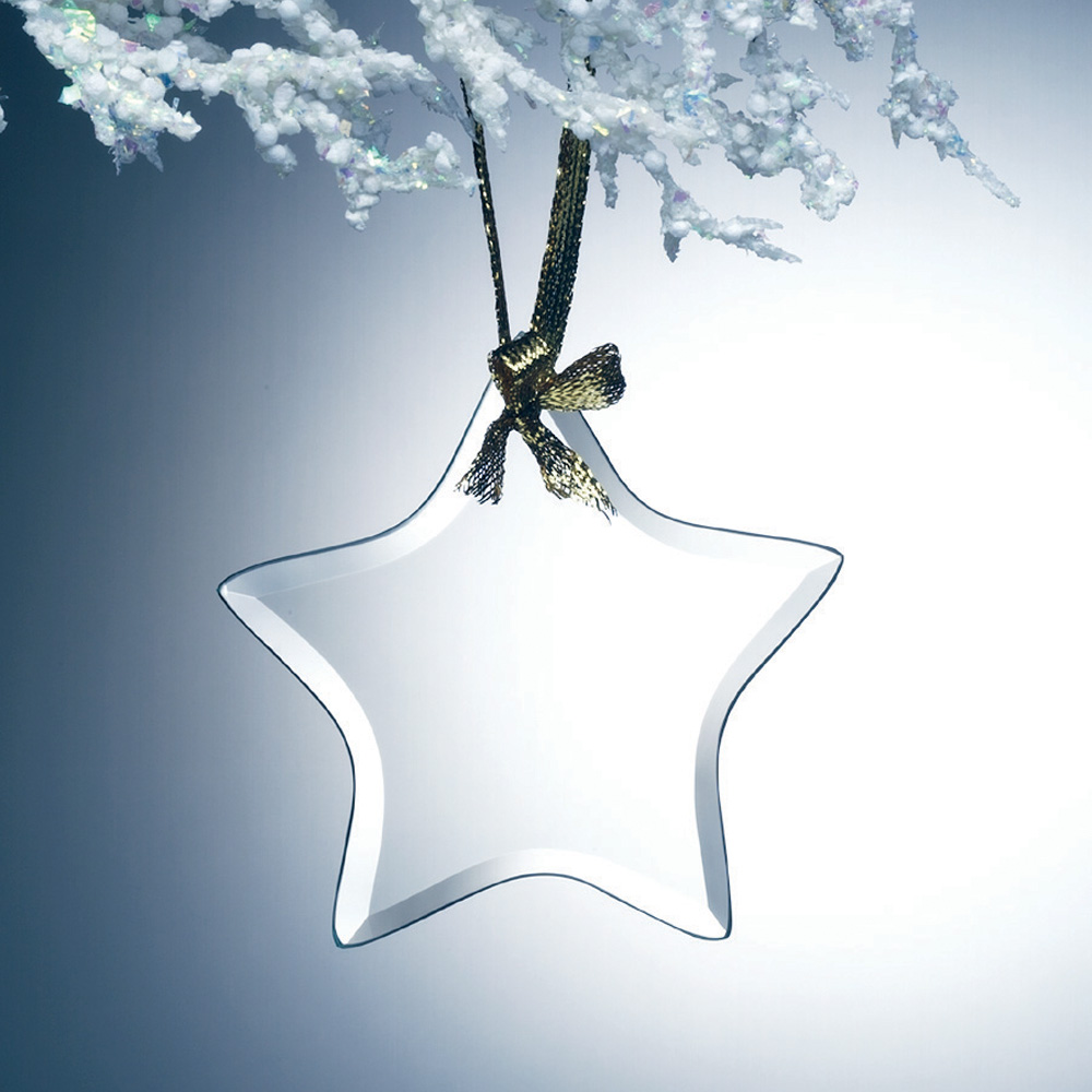 2PSMG127 Beveled Star Ornament - Jade