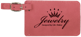 Pink Laserable Leatherette Luggage Tag