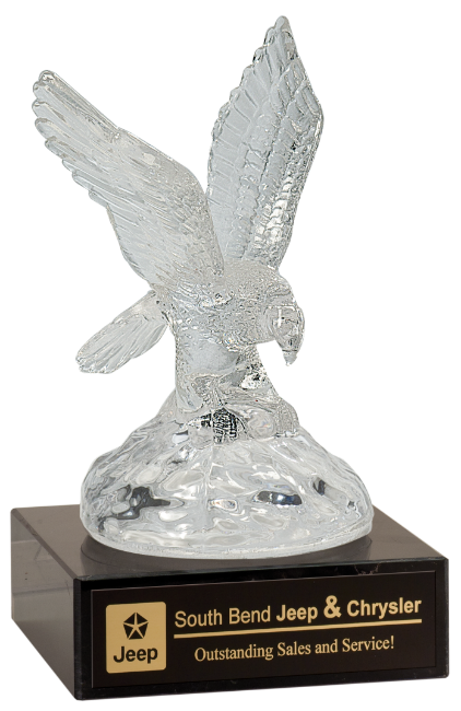 "2P67CRY Premier Glass Eagle on Granite Pedestal (Award: 10"" Glass Eagle w/Granite Pedestal)"