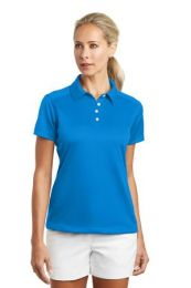 Ladies Dri-FIT Pebble Texture Golf Polo by Nike. 354064. (Color: Photo Blue, Size: Large)