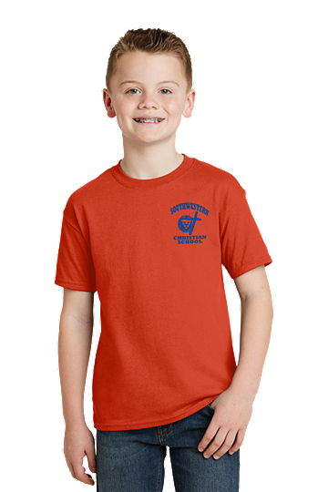 PE Shirt - Hanes® Youth - K-5th - SWCS (Color: Orange, Size: XS - Size 2/4)