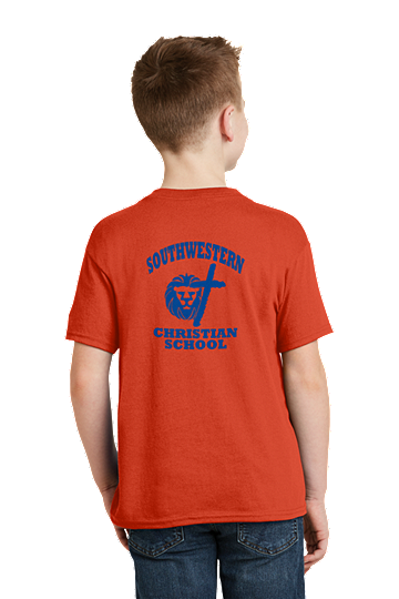PE Shirt - Hanes® Youth - K-5th - SWCS (Color: Orange, Size: SM - Size 6/8)
