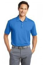 Dri-FIT Men's Vertical Mesh Golf Polo by Nike. 637167. (Color: Brisk Blue, Size: Medium)