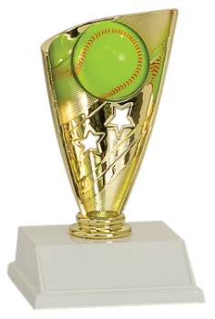 "6S0308 Softball/ Baseball Banner, Player Trophy (Trophy: 7"" Softball Banner, Player)"