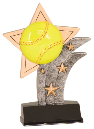 "6S0402 Softball/ Baseball Sport Star Resin Award (Trophy: 5 1/2"" Softball Sport Star)"