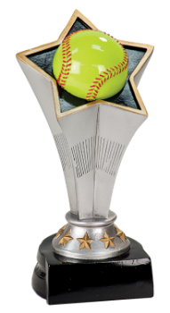 "6S0403 Softball/ Baseball Rising Star Resin Award (Trophy: 5 3/4"" Softball Rising Star)"