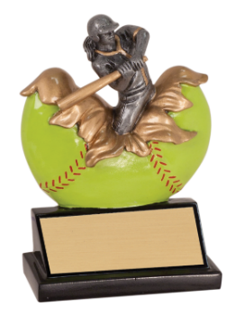 6S0406  Softball/Baseball Exploding Resin Award (Trophy: Female Softball Exploding)