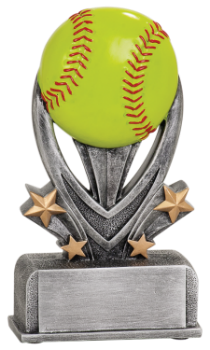 "6S0501 Softball/ Baseball Varsity Sport Resin Award (Trophy: 5 1/2"" Softball Varsity Sport)"