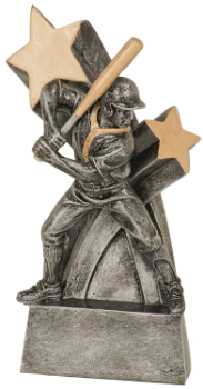 "6S0503 Baseball/ Softball Super Star Resin Award (Trophy: 6"" Baseball Male Super Star)"