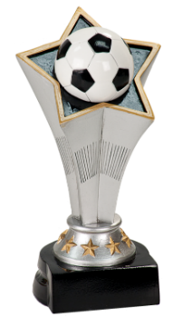 "6S0803 Soccer Rising Star League Standing Resin Trophy (Trophy: 5 3/4"" Soccer Rising Star League Standing)"