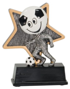 "6S0805 Soccer Little Pal Player Resin Trophy (Trophy: 5"" Soccer Little Pal Player)"