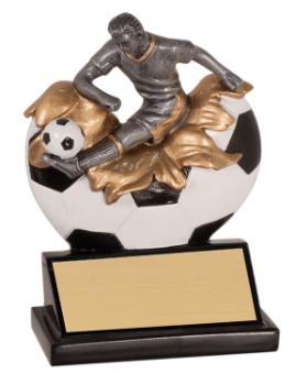 "6S0806 Soccer Exploding Resin Player Award (Trophy: 5 1/4"" Soccer Exploding Player)"