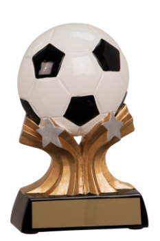 "6S0807 Soccer Shooting Star Resin Player Award/Trophy (Trophy: 5"" Soccer Shooting Star Player)"