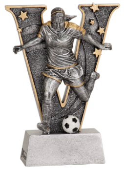 "6S0902 Soccer ""V"" Resin Award (Trophy: 5"" Female Soccer ""V"")"