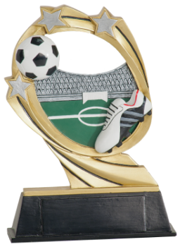 "6S0907 Soccer Cosmic Resin Award (Trophy: 5 1/2"" Soccer Cosmic)"