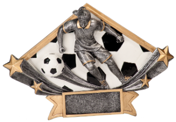 "6S0909 Soccer Diamond Star Resin Award (Trophy: 4 1/2"" Soccer Female Diamond Star)"
