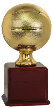 6S1201 Basketball Gold Championship Ball (Trophy: 17 1/2 Basketball Gold Championship Ball)