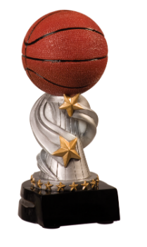 "6S1204 Basketball Encore Resin Award (Trophy: 5 3/4"" Basketball Encore)"
