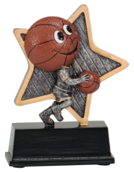 "6S1205 Basketball Little Pal Resin Award (Trophy: 5"" Little Pal)"