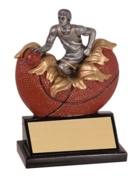 "6S1206 Basketball Exploding Resin Award (Trophy: 5 1/4"" Basketball Exploding)"
