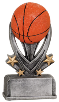 "6S1301 Basketball Varsity Sport Resin Award (Trophy: 5 1/2"" Basketball Varsity)"