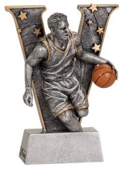 "6S1302 Basketball ""V"" Resin Award (Trophy: 5"" Male Basketball ""V"")"