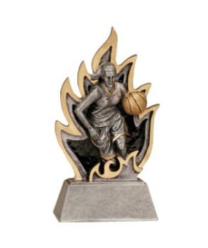 6S1304 Baskeball Ignite Resin Award (Trophy: 5 1/2 Female Basketball Ignite)