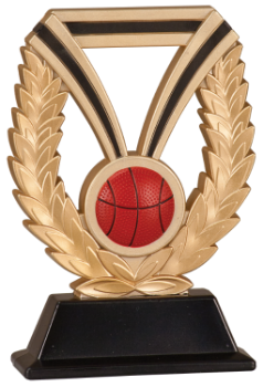 "6S1305 Basketball DuraResin Resin Award (Trophy: 6"" Basketball Dura)"