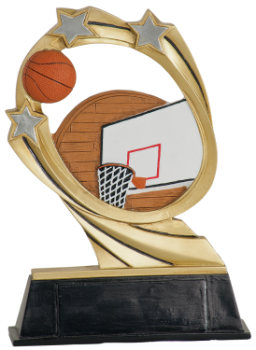 "6S1307 Basketball Cosmic Resin Award (Trophy: 5 1/2"" Basketball Cosmic)"