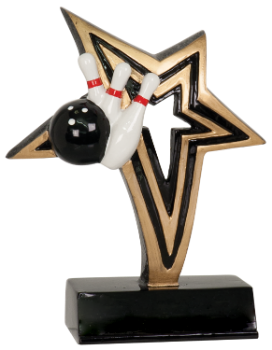 "6S1906 Bowling Infinity Star Resin Award (Trophy: 6"" Bowling Infinity Star)"