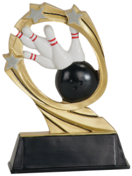"6S1908 Bowling Cosmic Resin Award (Trophy: 5 1/2"" Bowling Cosmic)"