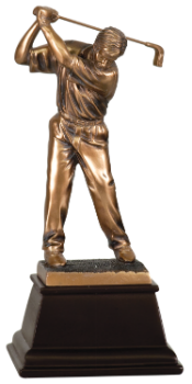 "6S2901 Golf Male Golfer, Bronze Resin (Trophy: 9 1/2"" Golf Male Golfer, Bronze)"