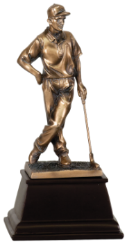 "6S2904 Golf Male Golfer, Bronze Resin (Trophy: 9"" Golf Male Golfer, Bronze)"
