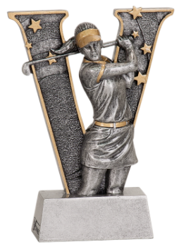 "6S3003 Golf Female ""V"" Series Resin Award (Trophy: 5"" Golf Female ""V"" Series)"