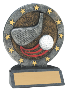 "6S3005 Golf All Star Resin Award (Trophy: 4 1/2"" Golf All Star)"