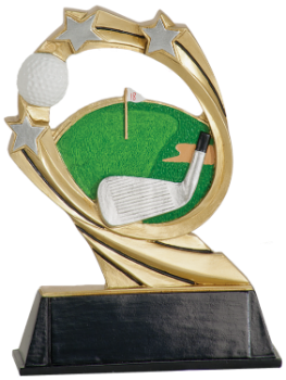 "6S3103 Golf Cosmic Resin Award (Trophy: 5 1/2"" Golf Cosmic)"