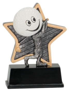 "6S3108 Golf Little Pal Resin Award (Trophy: 5"" Golf Little Pal)"