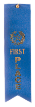 "6S3600 ""Pinked Top"" Ribbons (Award: 1st Place (Blue/ Gold Graphics))"
