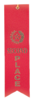 "6S3600 ""Pinked Top"" Ribbons (Award: 2nd Place (Red/ Gold Graphics))"