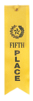 "6S3600 ""Pinked Top"" Ribbons (Award: 5th Place (Yellow/ Gold Graphics))"
