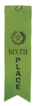 "6S3600 ""Pinked Top"" Ribbons (Award: 6th Place (Green/ Gold Graphics))"