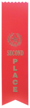 "6S3600 Ranking Ribbons, 2"" x 8"" (Award: 2nd Place (Red/ Gold Lettering))"
