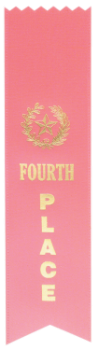 "6S3600 Ranking Ribbons, 2"" x 8"" (Award: 4th Place (Pink/ Gold Lettering))"