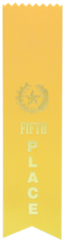 "6S3600 Ranking Ribbons, 2"" x 8"" (Award: 5th Place (Yellow/ Gold Lettering))"