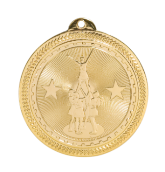 "6S4606 COMPETITIVE CHEER BRITELAZER MEDAL (Medal: 2 "" Gold)"