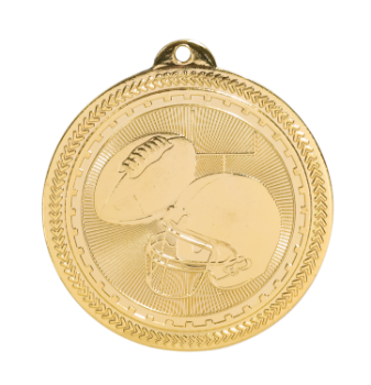 "6S4609 FOOTBALL BRITELAZER MEDAL (Medal: 2 "" Gold)"